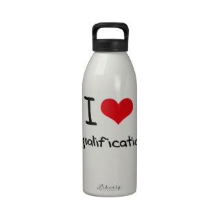 I Love Disqualifications Water Bottle