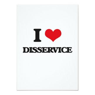 I love Disservice 5x7 Paper Invitation Card