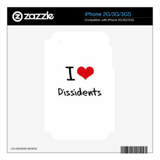 I Love Dissidents iPhone 3 Skin