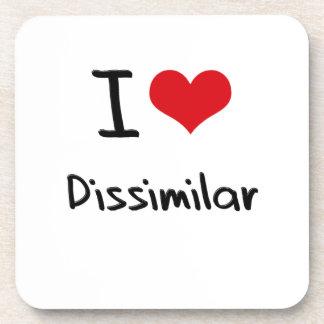 I Love Dissimilar Beverage Coaster