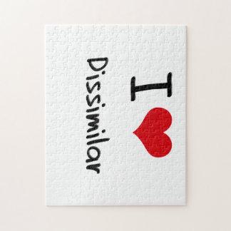 I Love Dissimilar Jigsaw Puzzles