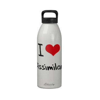 I Love Dissimilar Water Bottles