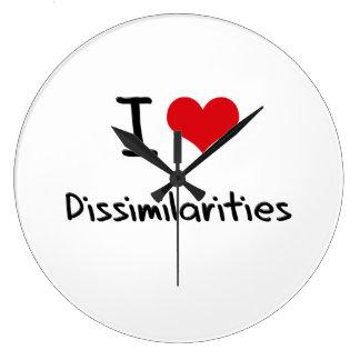I Love Dissimilarities Wallclocks