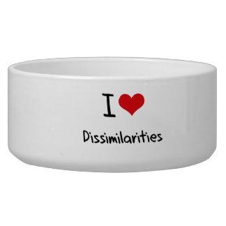 I Love Dissimilarities Pet Food Bowls