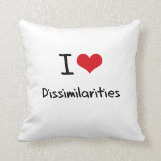 I Love Dissimilarities Throw Pillow