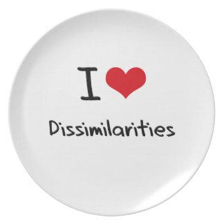 I Love Dissimilarities Plates