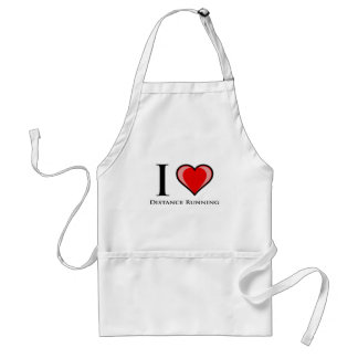 I Love Distance Running Adult Apron