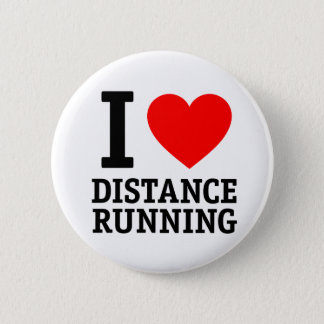 I Love Distance Running Button