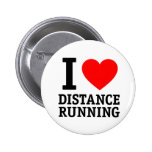 I Love Distance Running Pinback Buttons