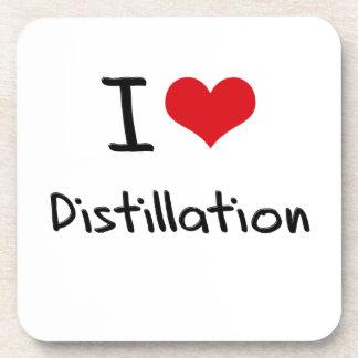I Love Distillation Drink Coaster