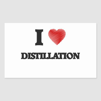I love Distillation Rectangular Sticker