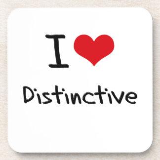 I Love Distinctive Coasters