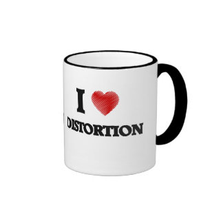 I love Distortion Ringer Mug