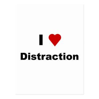 I Love DIstraction Postcard