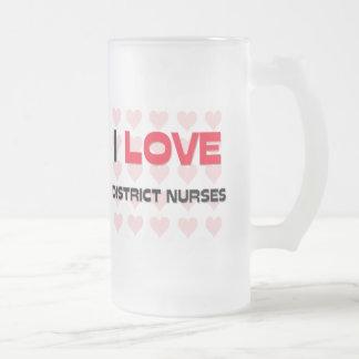 I LOVE DISTRICT NURSES COFFEE MUG