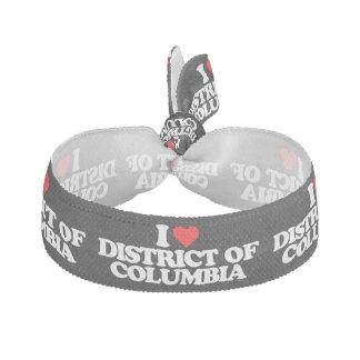 I LOVE DISTRICT OF COLUMBIA ELASTIC HAIR TIE