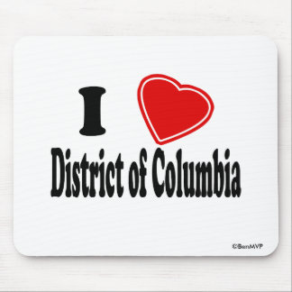 I Love District of Columbia Mouse Pads