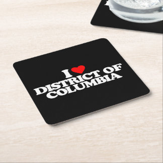 I LOVE DISTRICT OF COLUMBIA SQUARE PAPER COASTER