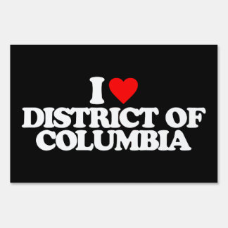 I LOVE DISTRICT OF COLUMBIA SIGNS
