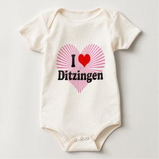 I Love Ditzingen, Germany Baby Bodysuit