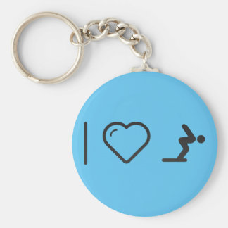 I Love Diver Positions Basic Round Button Keychain