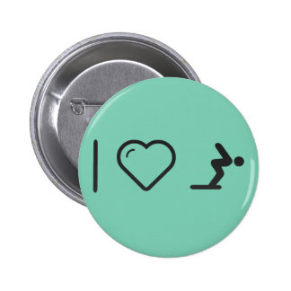 I Love Diver Positions 2 Inch Round Button