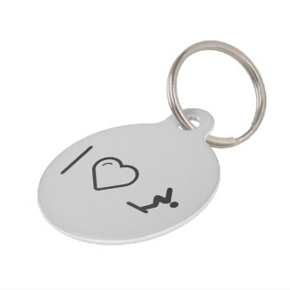 I Love Diver Positions Pet Name Tag