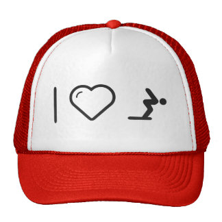 I Love Diver Positions Trucker Hat