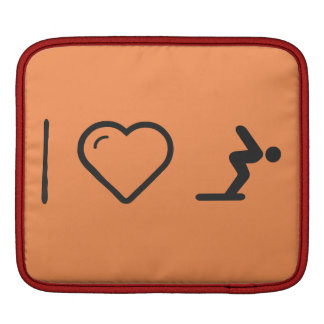 I Love Diver Positions iPad Sleeves