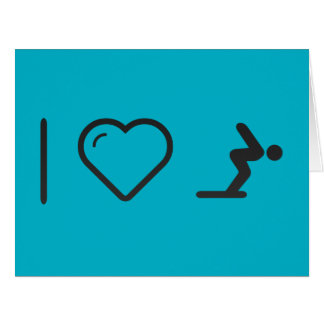 I Love Diver Positions Large Greeting Card
