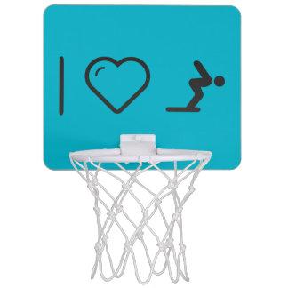 I Love Diver Positions Mini Basketball Backboard