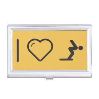 I Love Diver Positions Case For Business Cards