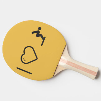 I Love Diver Positions Ping Pong Paddle