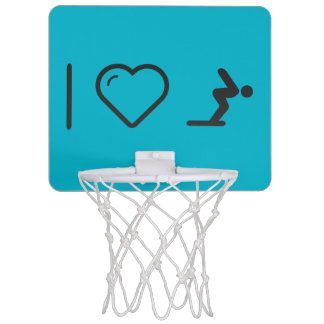I Love Diver Positions Mini Basketball Backboards