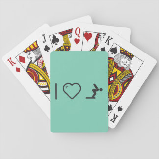 I Love Diver Positions Playing Cards
