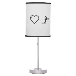 I Love Diver Positions Table Lamp