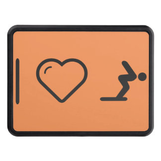 I Love Diver Positions Trailer Hitch Cover