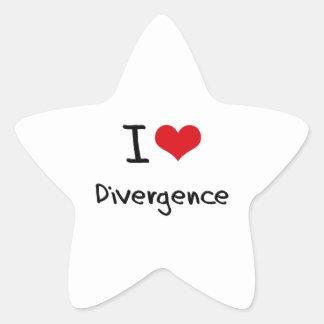 I Love Divergence Star Sticker