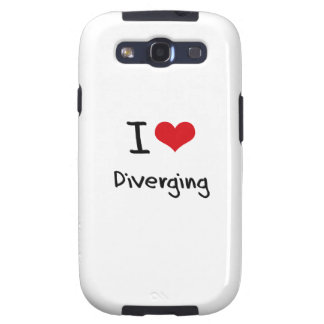 I Love Diverging Samsung Galaxy S3 Case