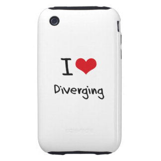 I Love Diverging Tough iPhone 3 Case
