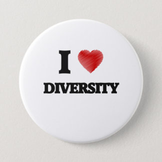 I love Diversity Pinback Button