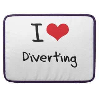 I Love Diverting MacBook Pro Sleeves