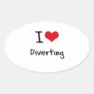 I Love Diverting Sticker