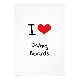 I Love Diving Boards Announcement