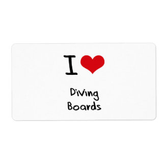 I Love Diving Boards Personalized Shipping Labels