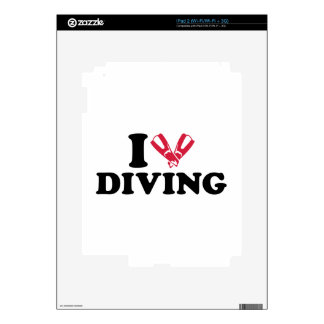 I love Diving flippers iPad 2 Skins