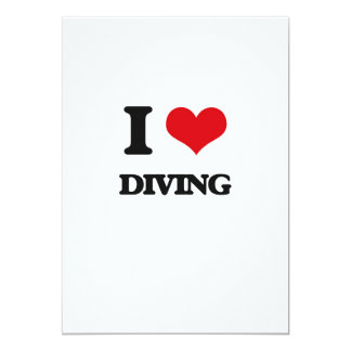 I love Diving 5x7 Paper Invitation Card
