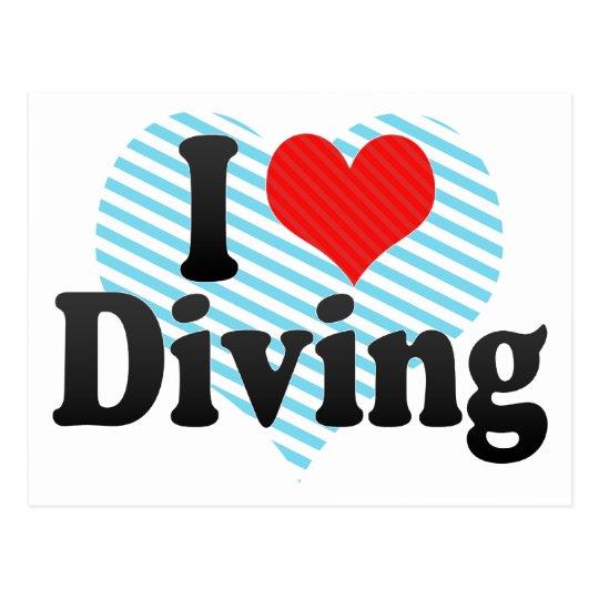 I Love Diving Postcard