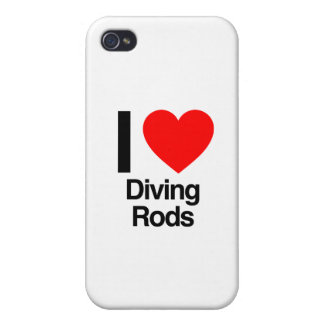i love diving rods iPhone 4 cases