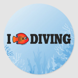 I Love Diving Sticker